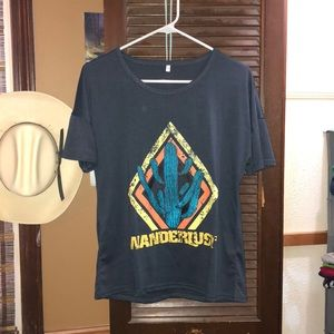 Wanderlust cactus T-shirt